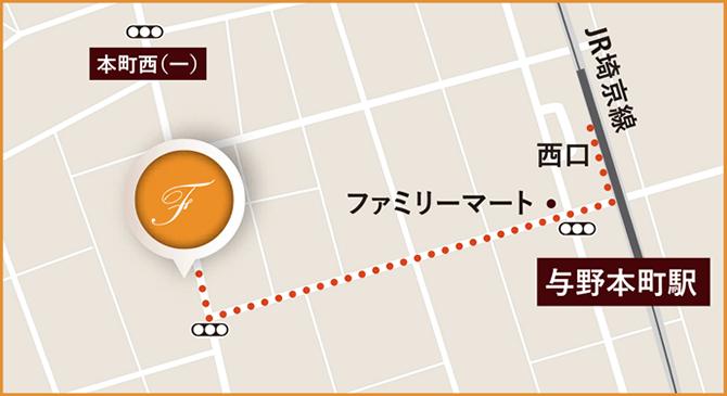 福永歯科への地図